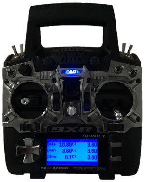 9XR Pro with telemetry screen activated